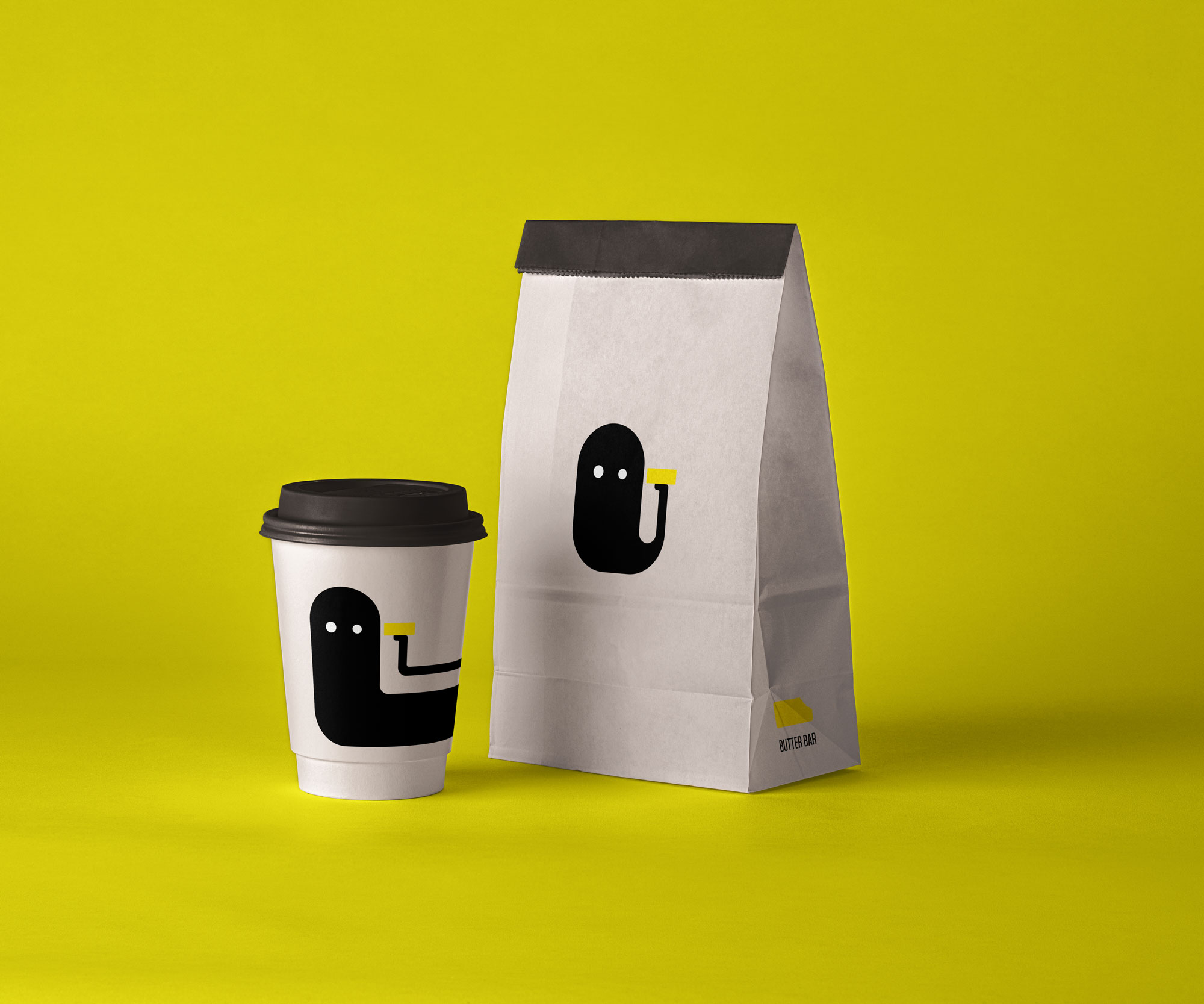 cup of coffee and a bag