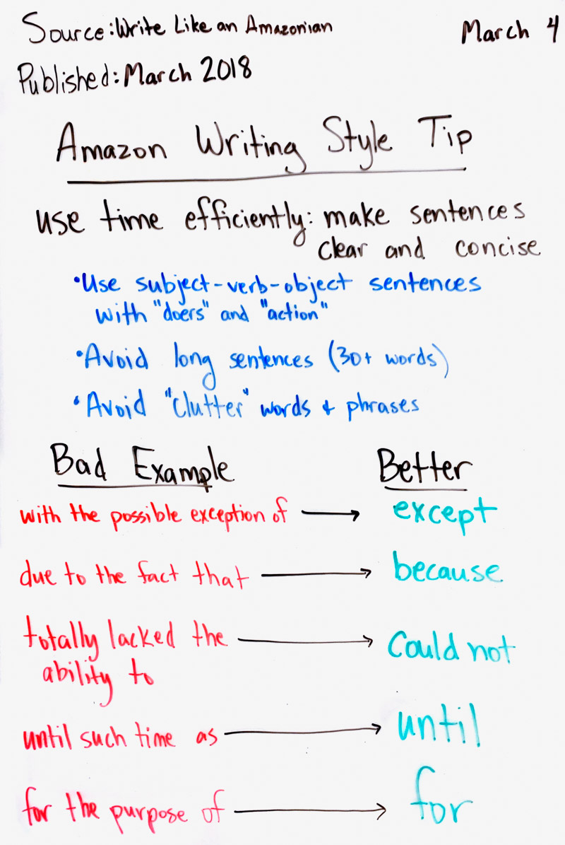 Amazon Writing Style Tip