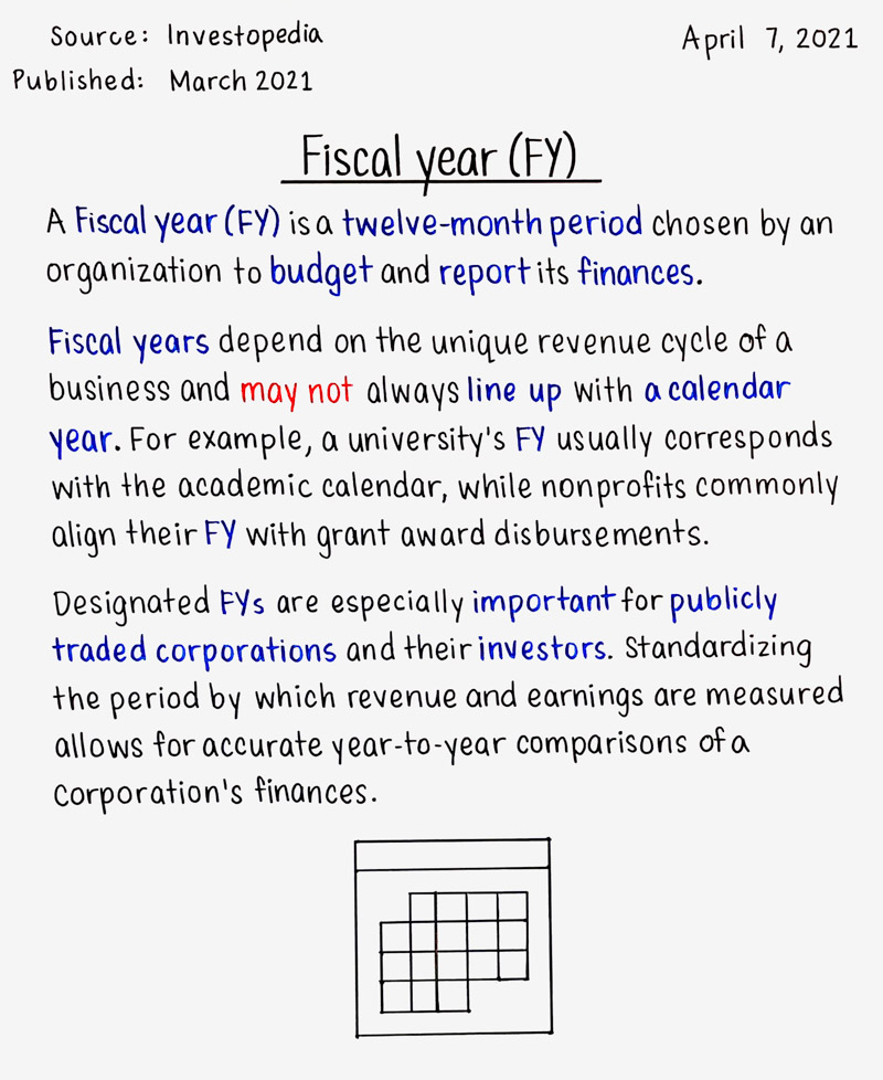 Fiscal year (FY)
