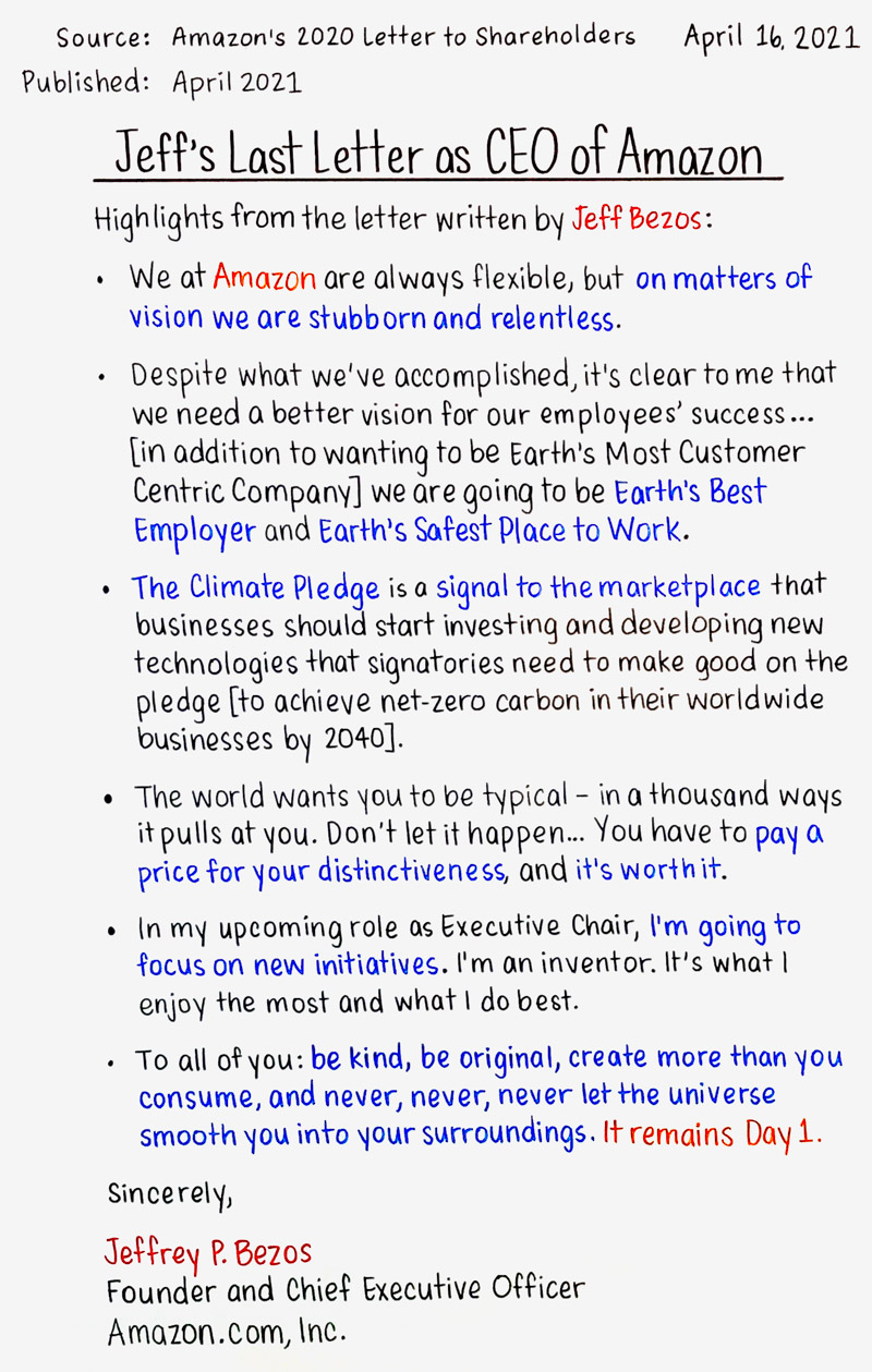 Jeff's Last Letter as CEO of Amazon