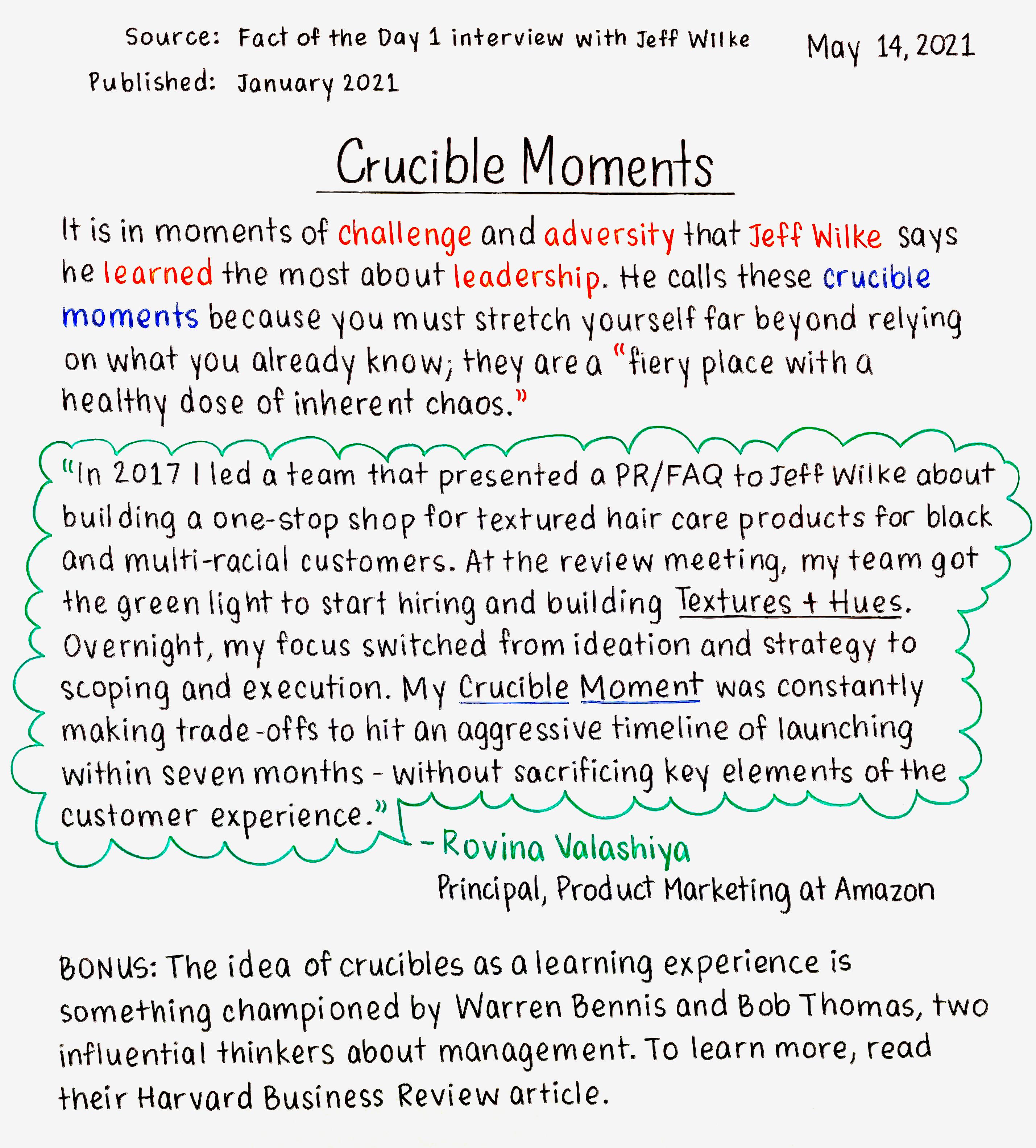 Crucible Moments
