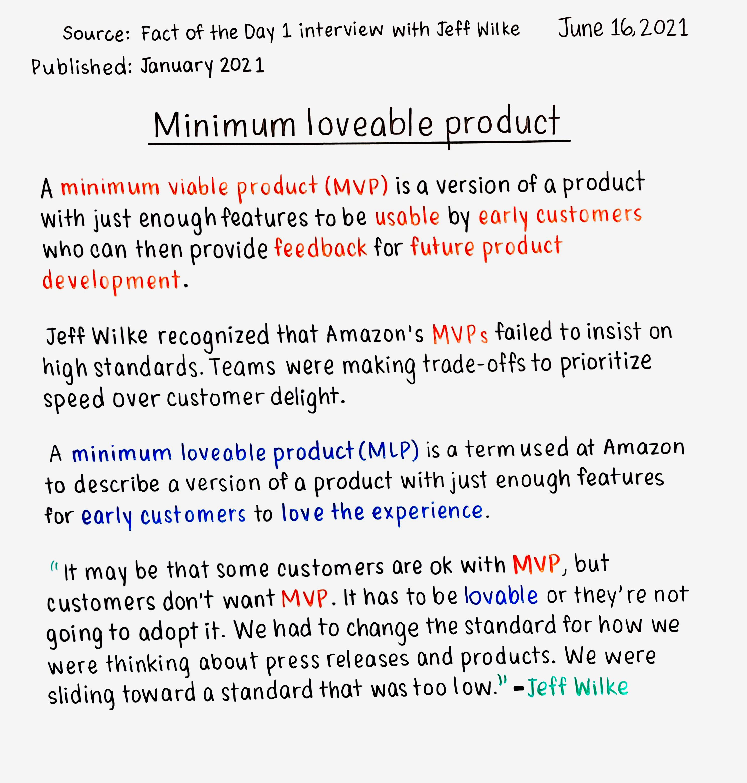Minimum loveable product