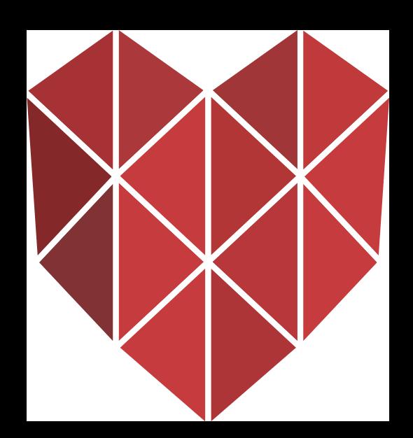 A polygon heart