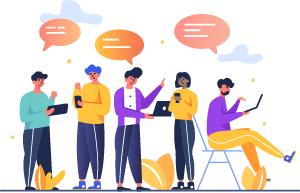 collect customer feedback illustration