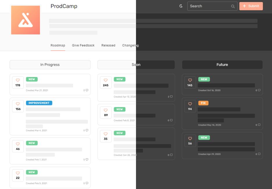 ProdCamp public roadmap illustration