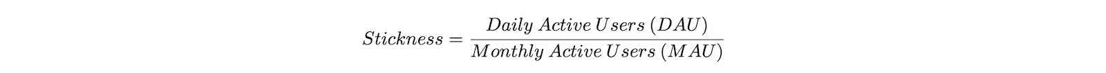 aily Active Users (DAU) / Monthly Active Users (MAU)