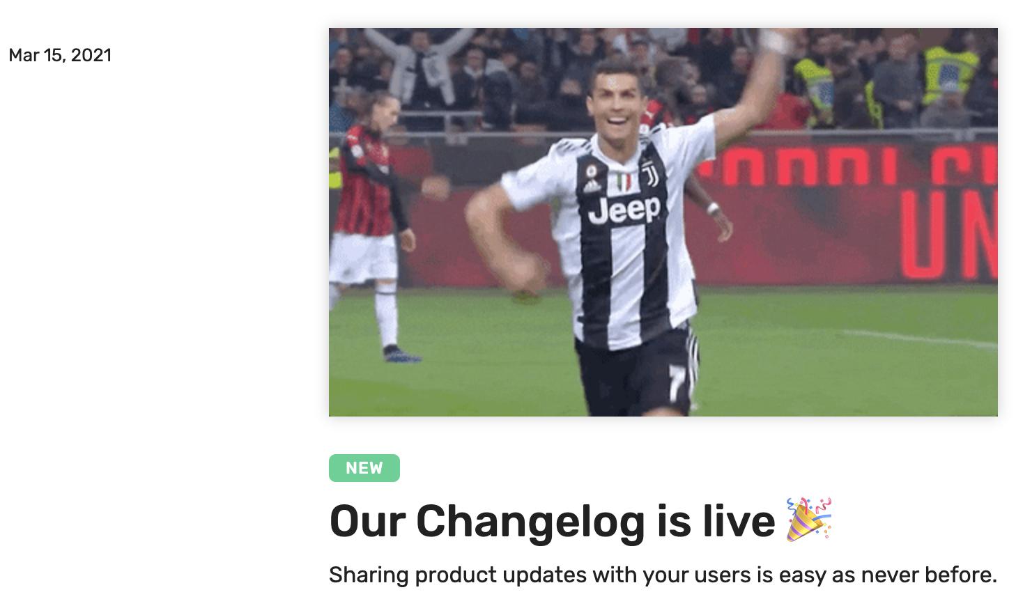 ProdCamp changelog is live