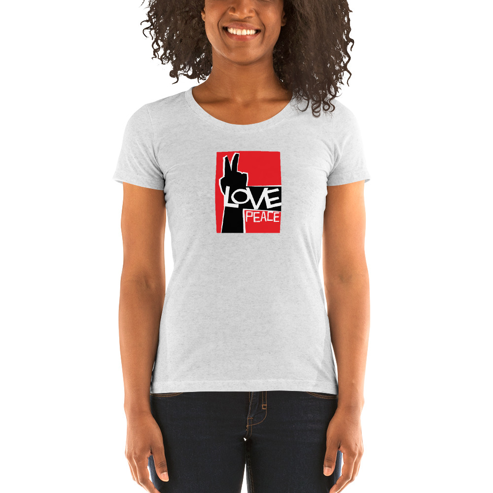Love Peace Ladies' short sleeve t-shirt