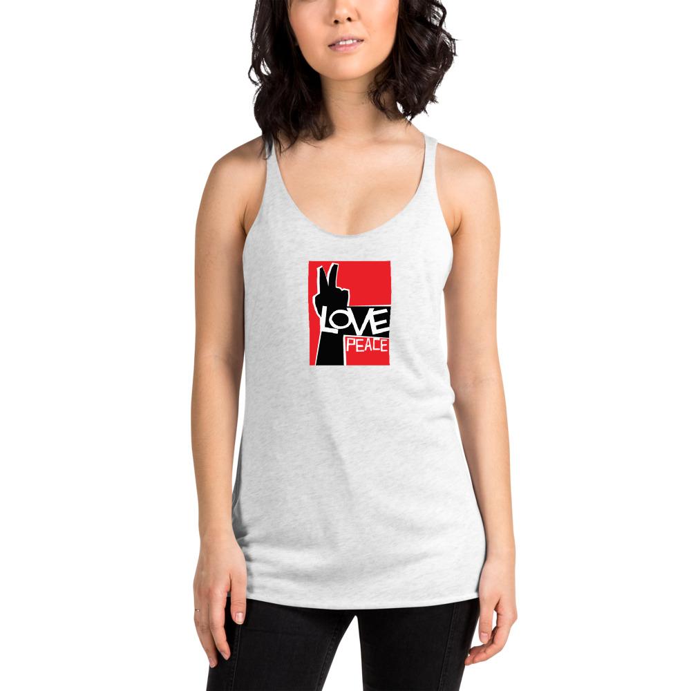 Love Peace Women's Racerback Tank