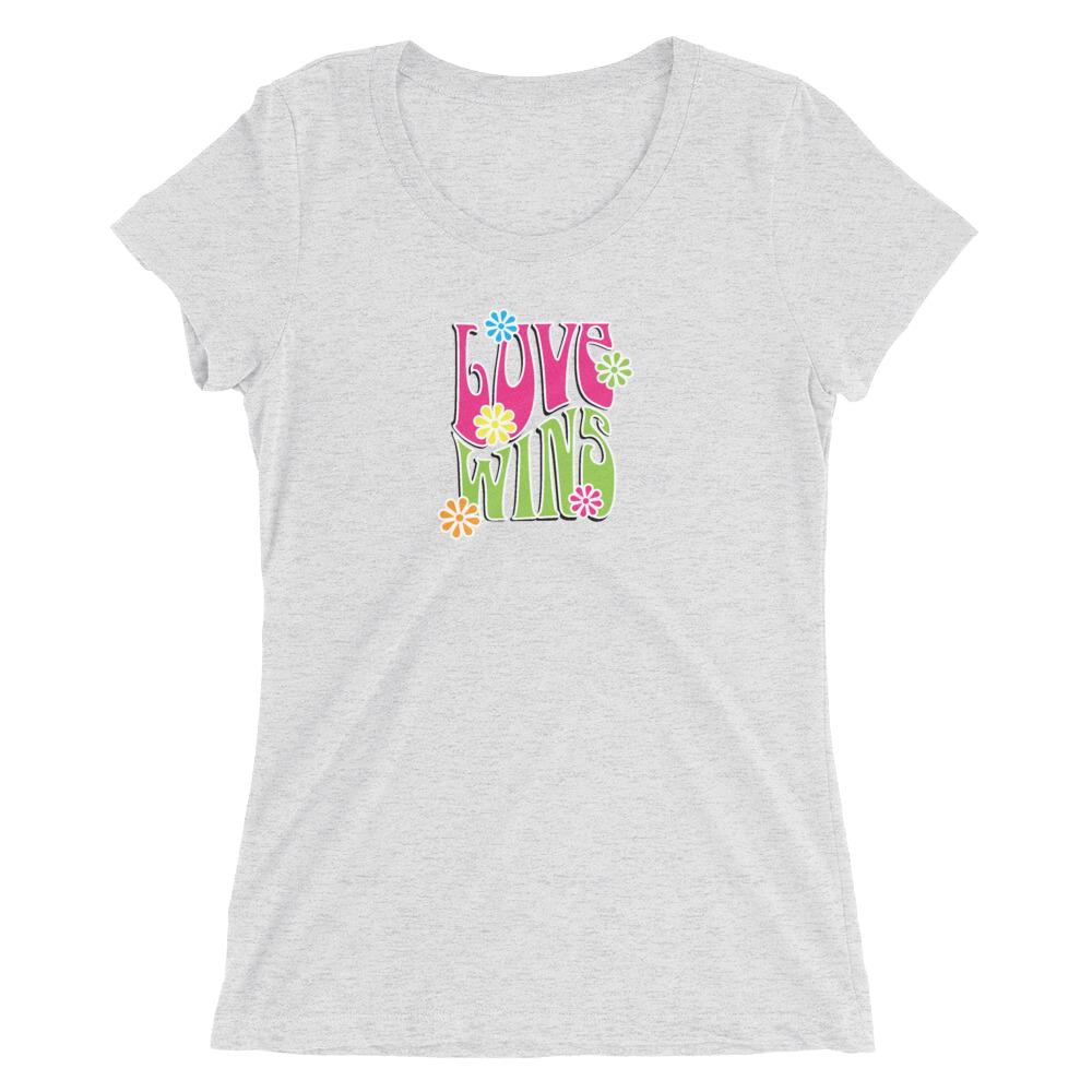 Love Wins Ladies' short sleeve t-shirt