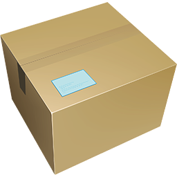 Cardboard box image to show delivery is free