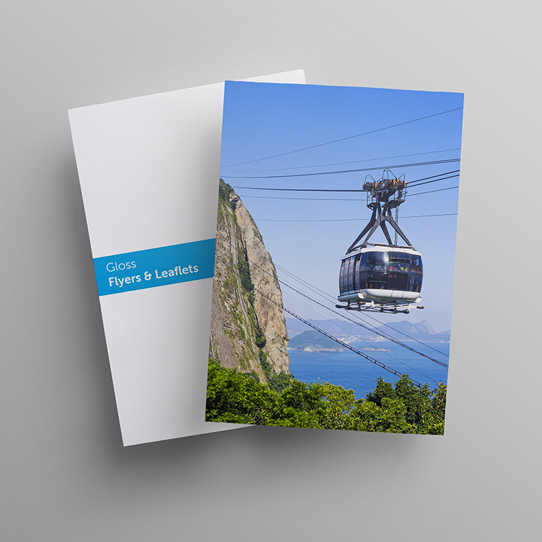 Image of printed gloss flyers and leaflets
