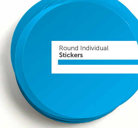 Picture of a printed stickers