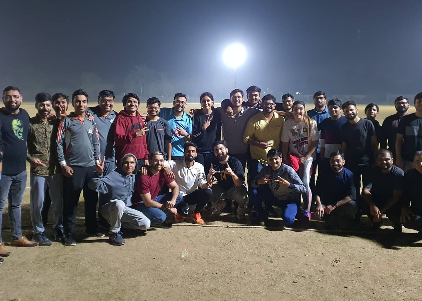 Keeley with her coworkers from Simform after playing a game of cricket.