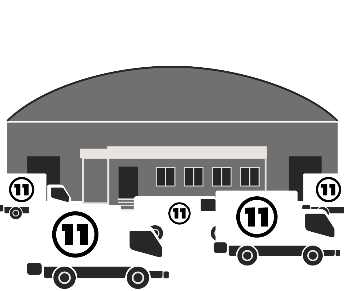 Narrative illustration depicting 11th Street Workshop's business between 2019–2005 with 114,500 square feet and 90 employees