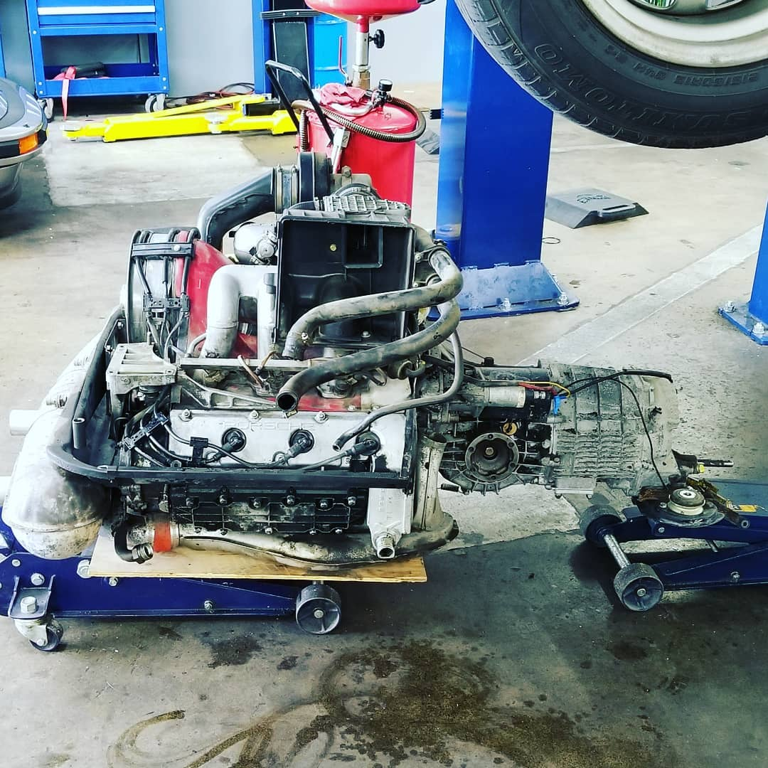 Engine and trans removal complete