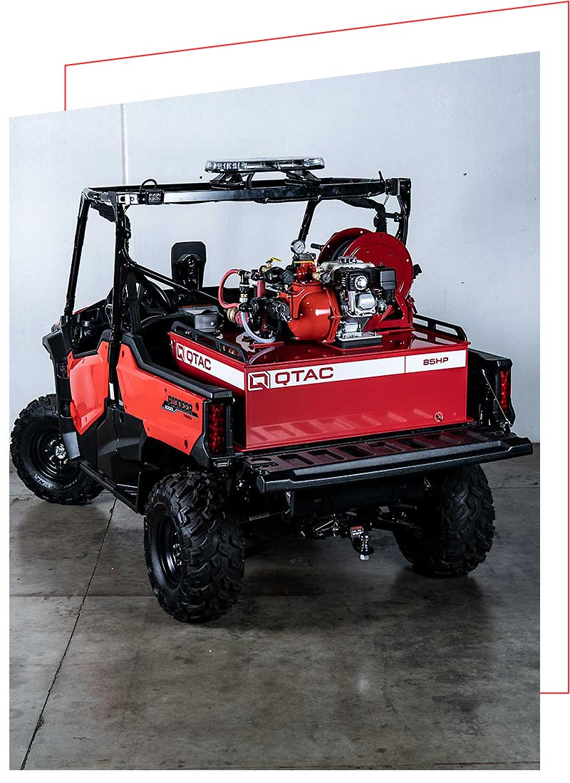 QTAC FIRE AND RESCUE SKIDS FOR THE HONDA PIONEER