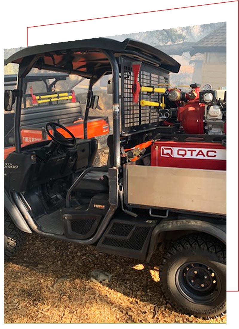 QTAC Fire and Rescue Skids for the Kubota RTV