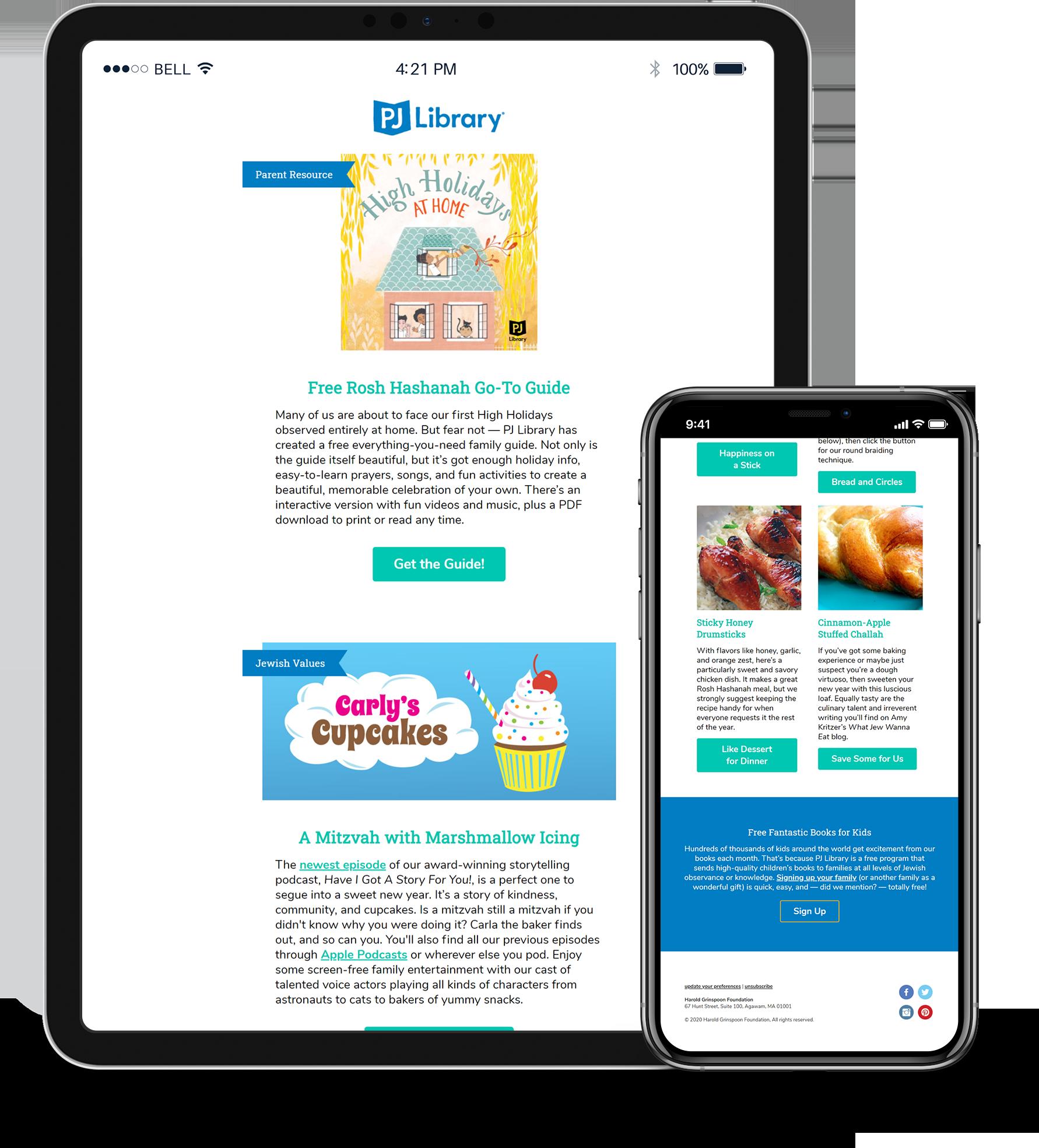 PJ Library Lead Generation Newsletter