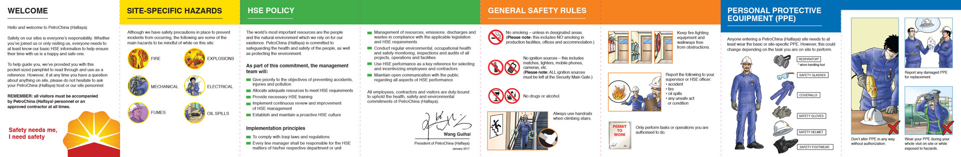 PetroChina Visitor Safety Brochure