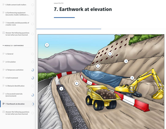 E-learning screenshot