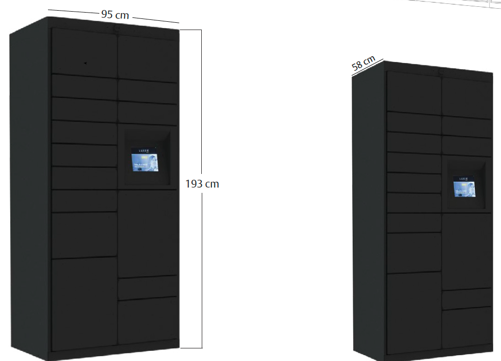 smart locker versão pequena