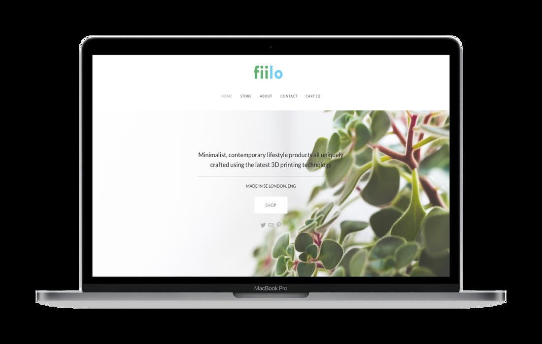 fiilo homepage mockup