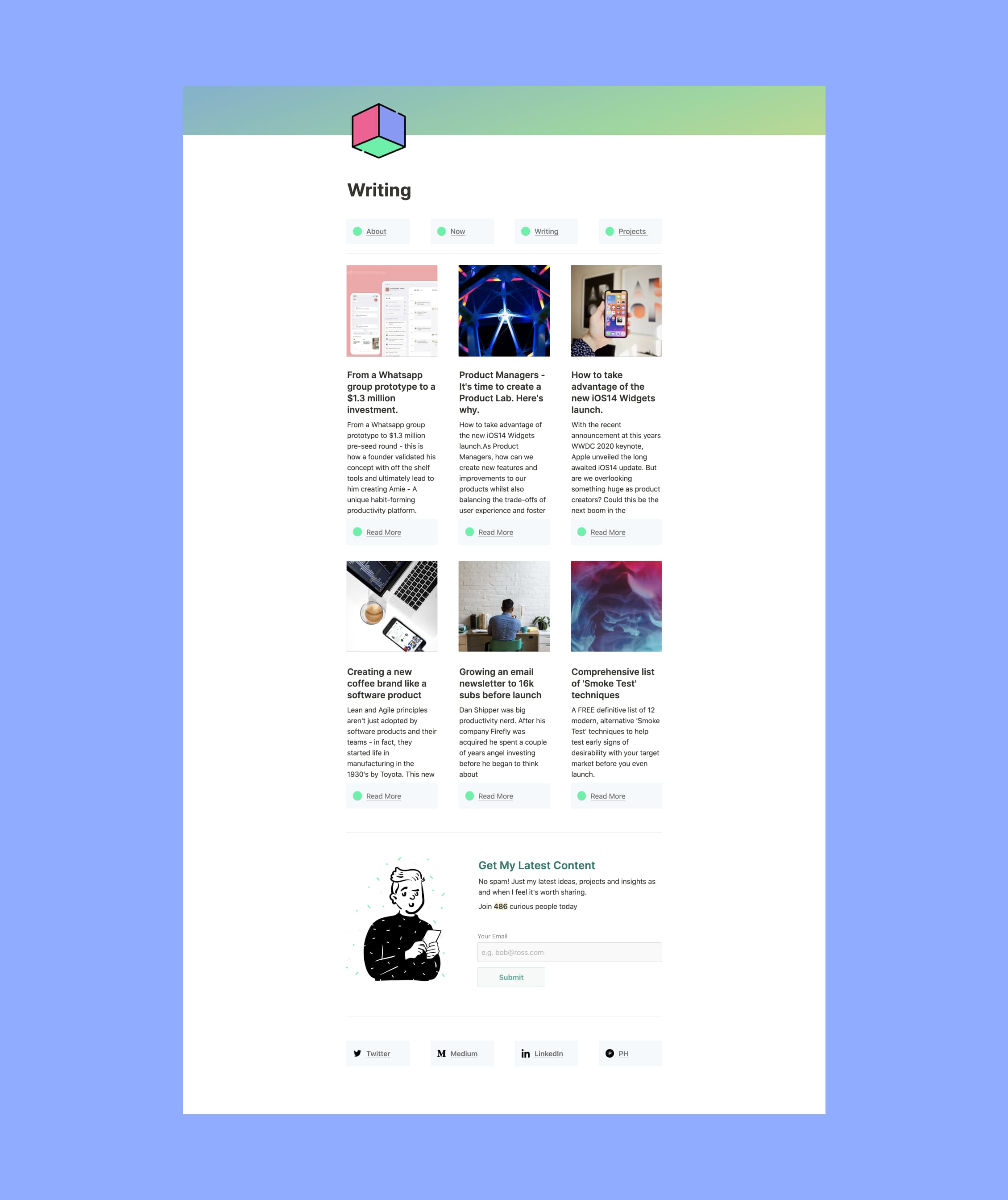 Notion Personal Site Blog Template