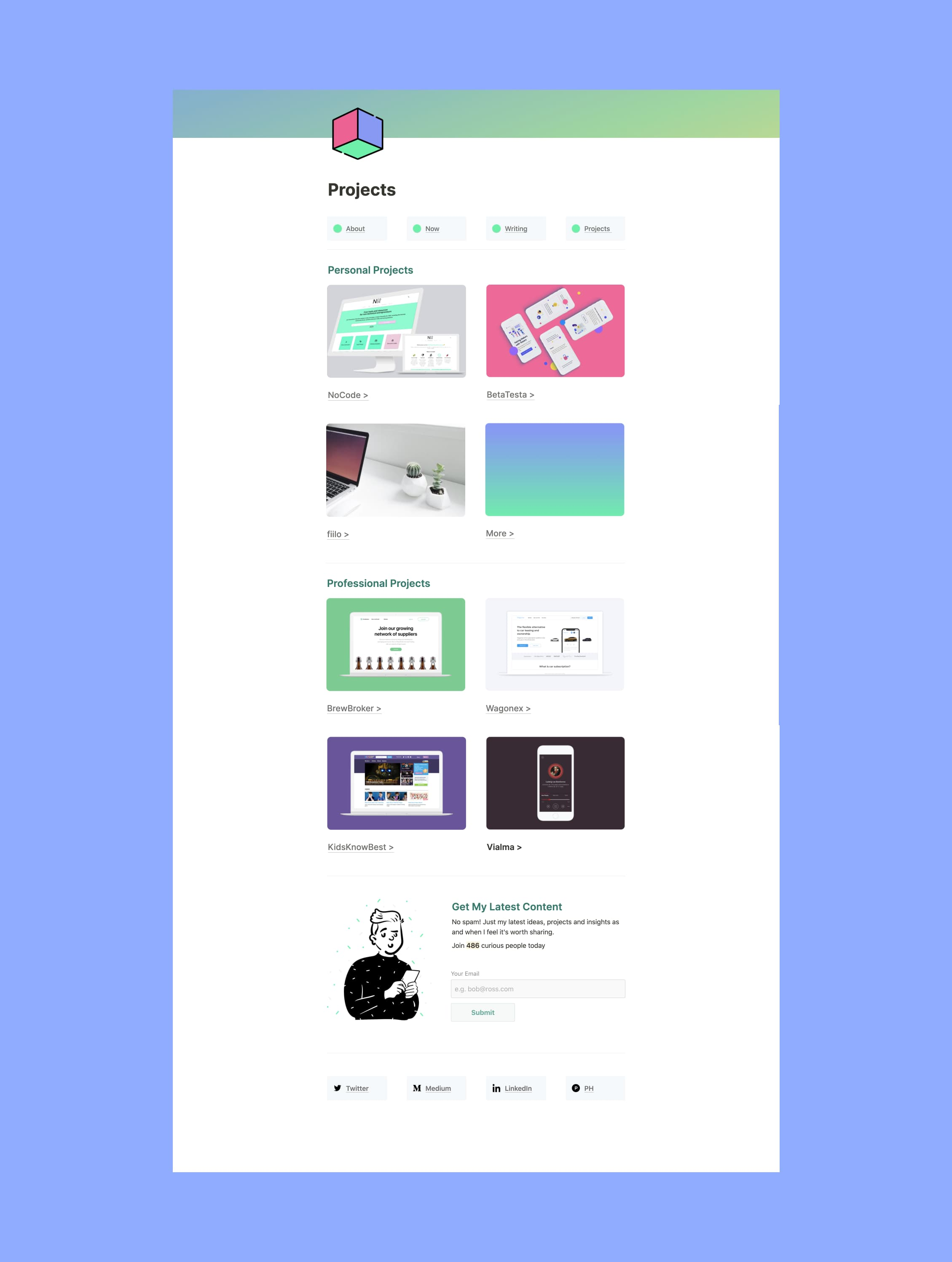 Notion Personal Site Projects Template