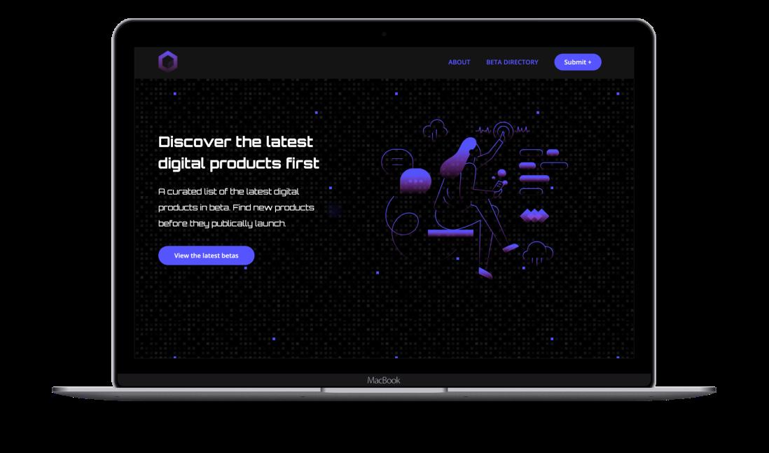 NoCode Homepage example