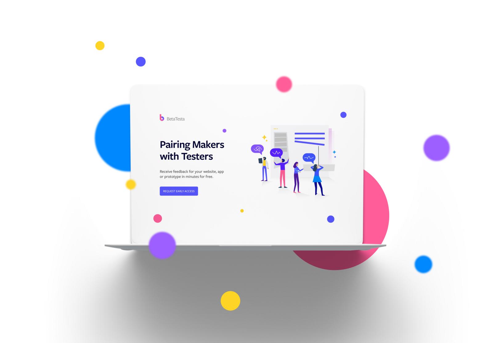 BetaTesta Design Mockup Example