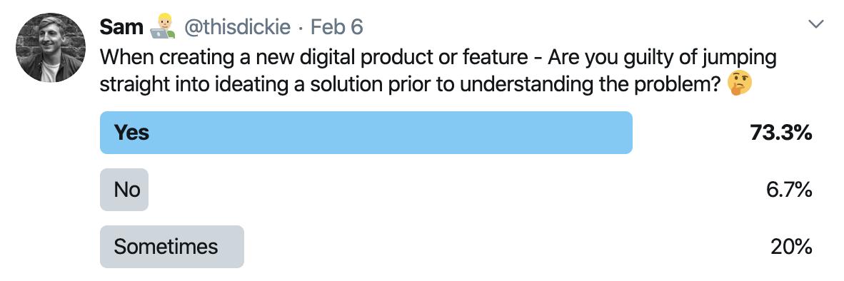 User testing twitter poll
