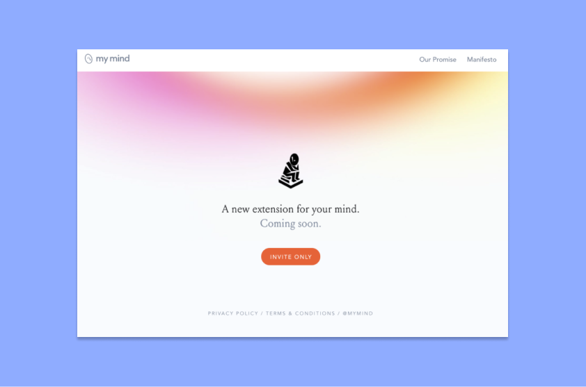 MyMind Early Access Landing Page