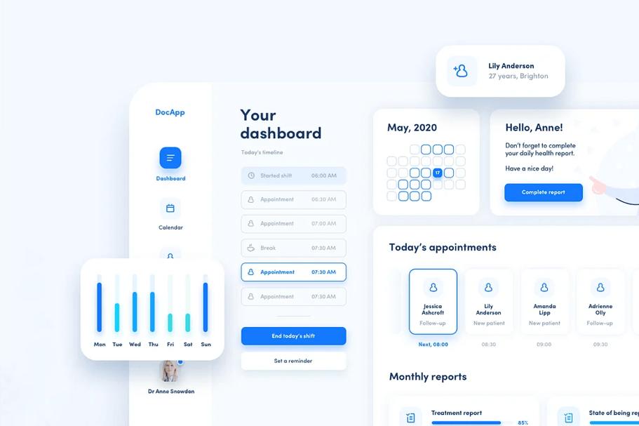 How to design a sleek dashboard UI