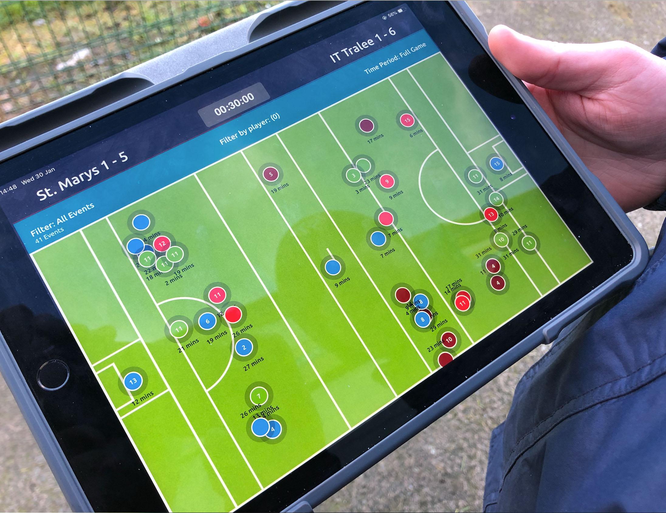 GAA live stats on Performa Sports iPad app