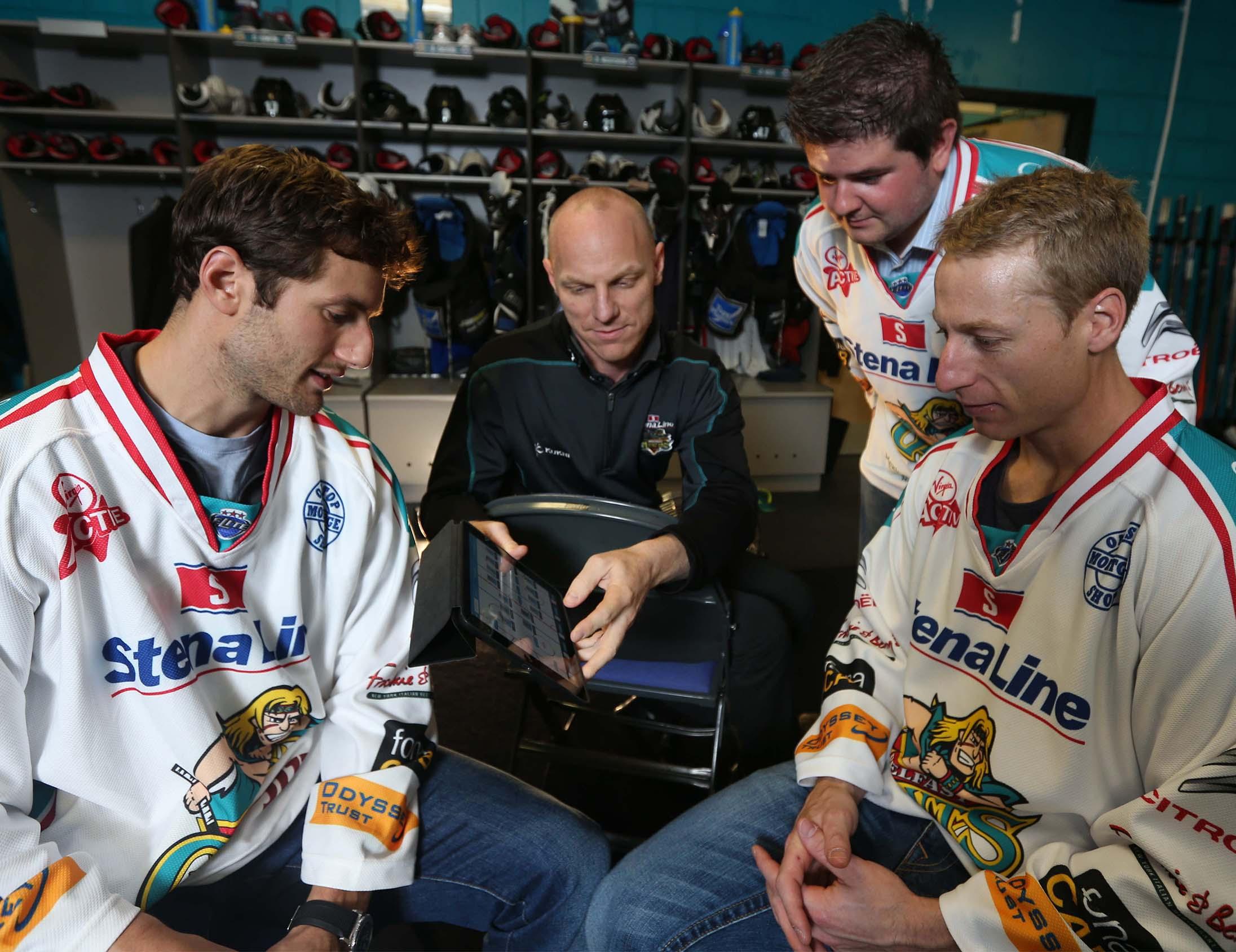 Ice Hockey coaching insights with Performa Sports iPad app
