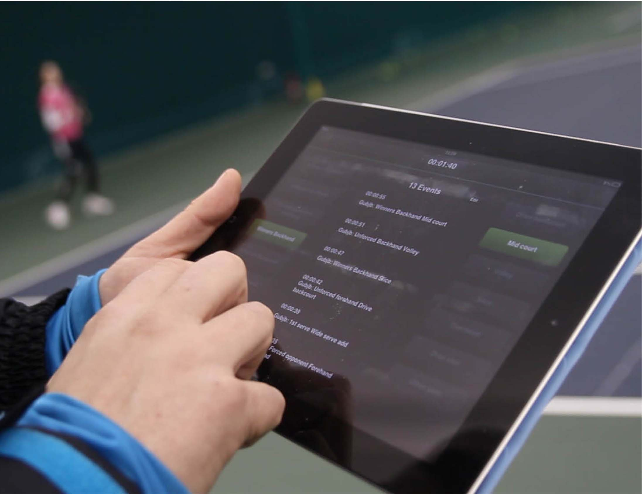 Tennis live stats on Performa Sports iPad app
