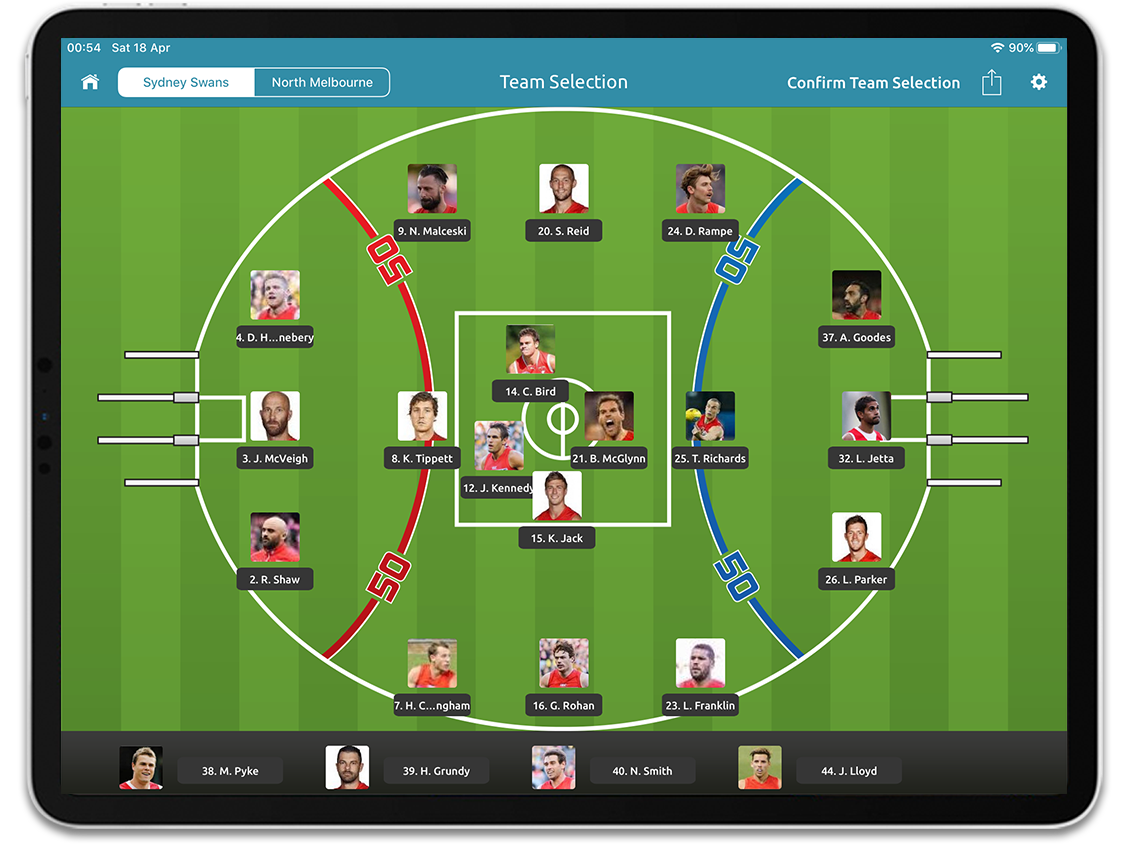 Australian Rules Football tactical insights using Performa Sports iPad app