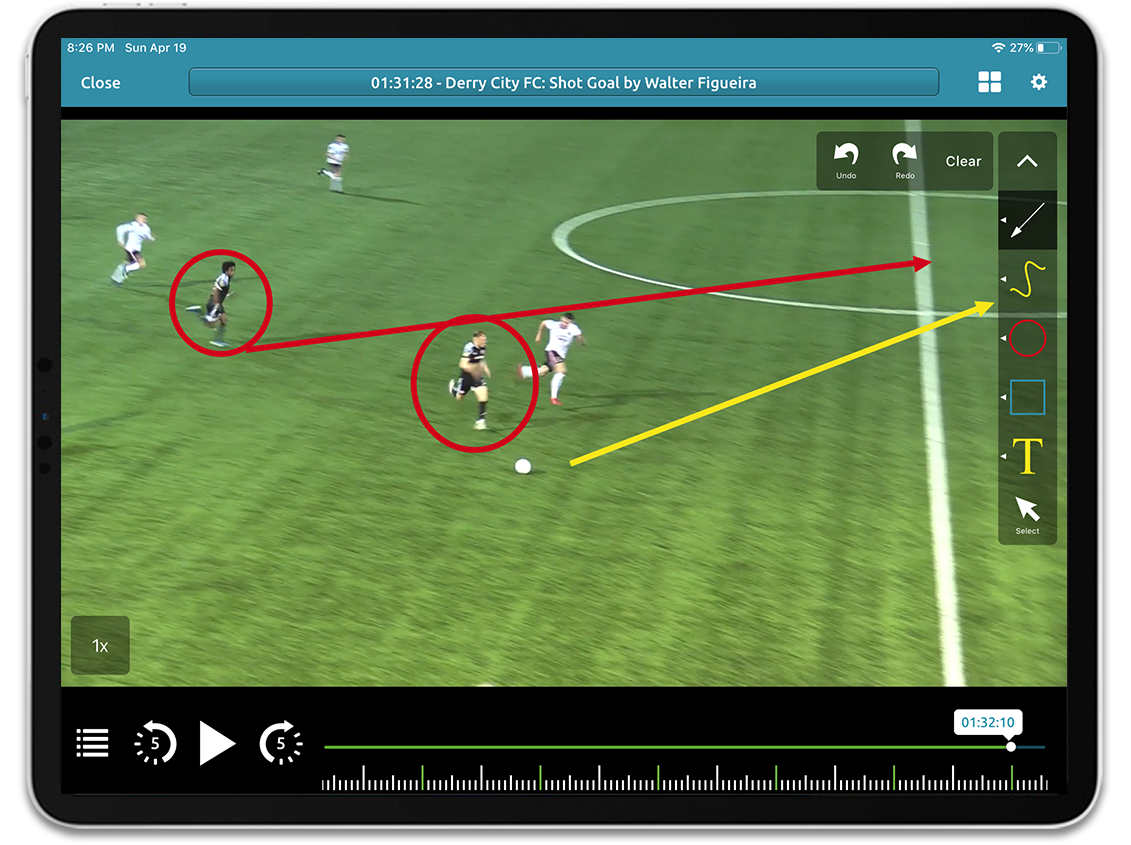 Football video analysis on Performa Sports iPad app