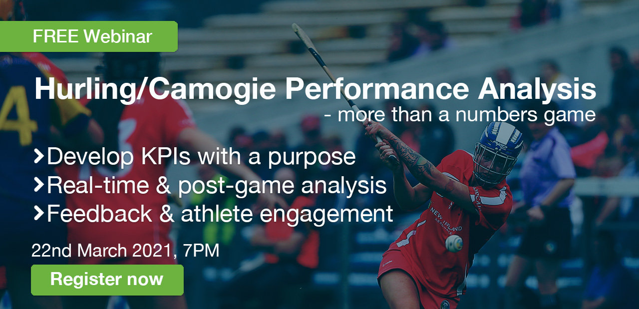 WATCH: Hurling/Camogie Performance Analysis Webinar - Mar 22nd, 2021