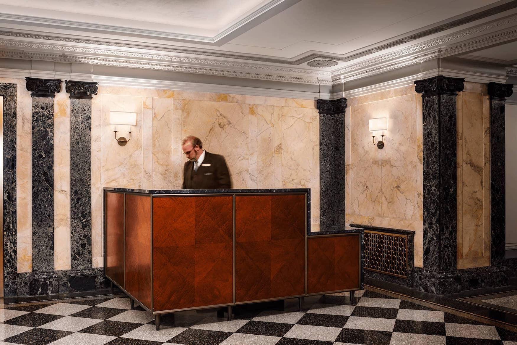 Concierge desk at 101 Central Park West