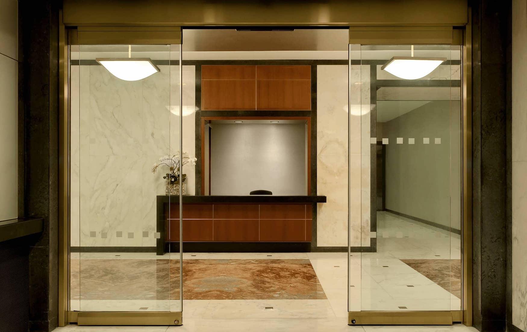 Concierge desk at 35 East 85th Street