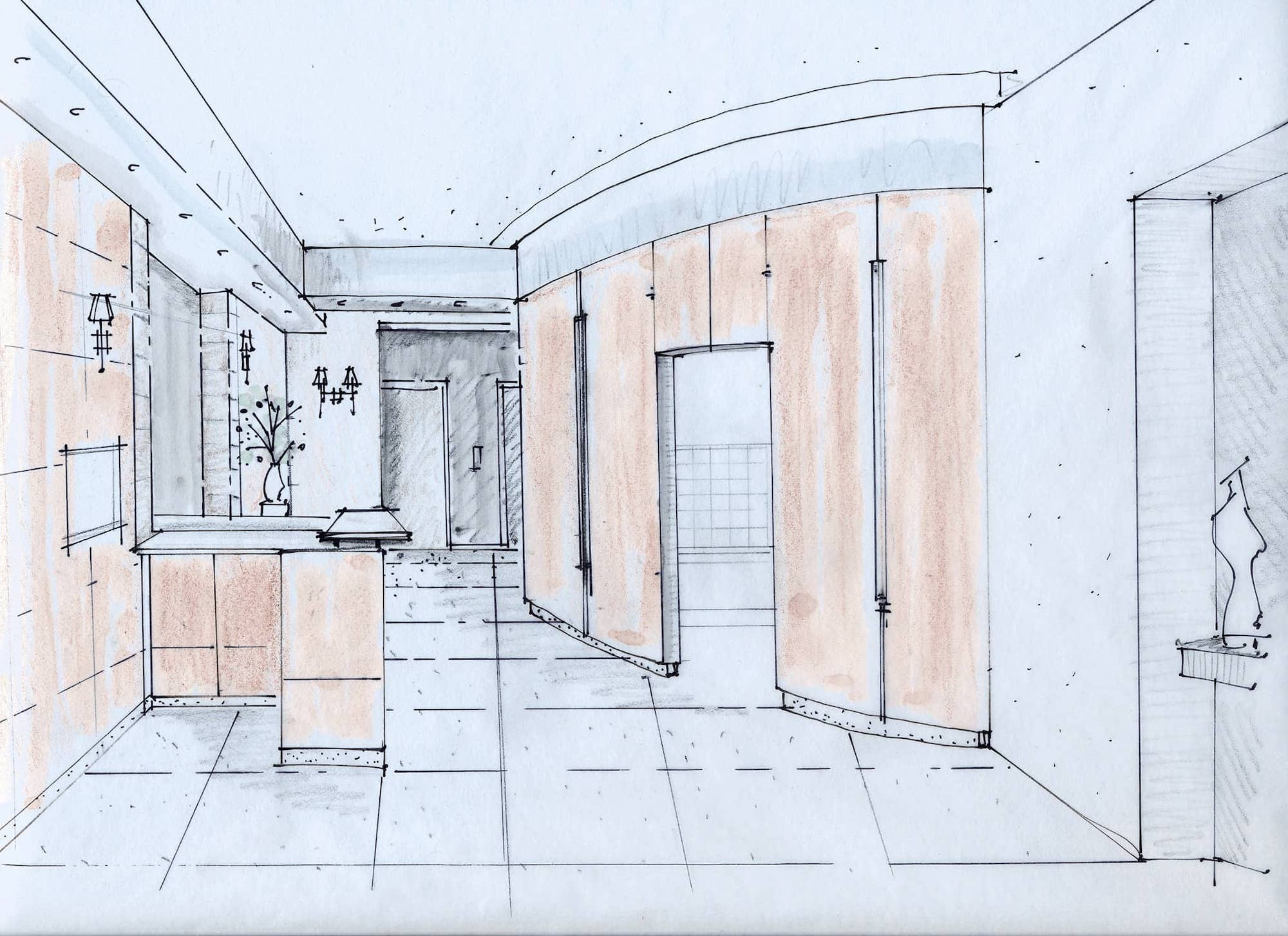 Architectural sketches.