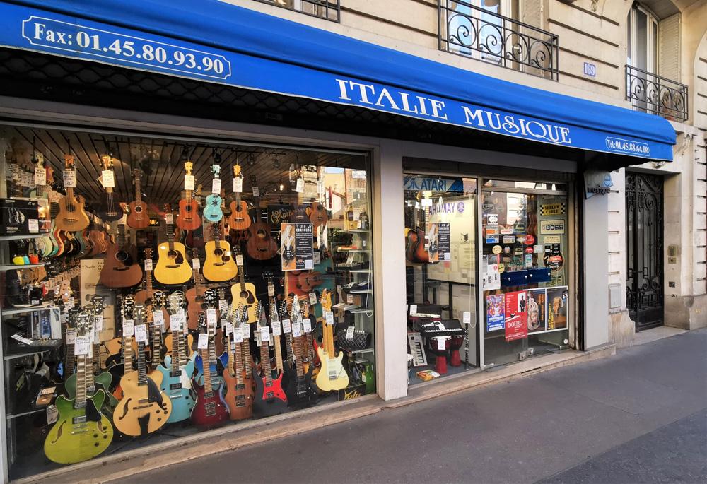Vue rue italie musique