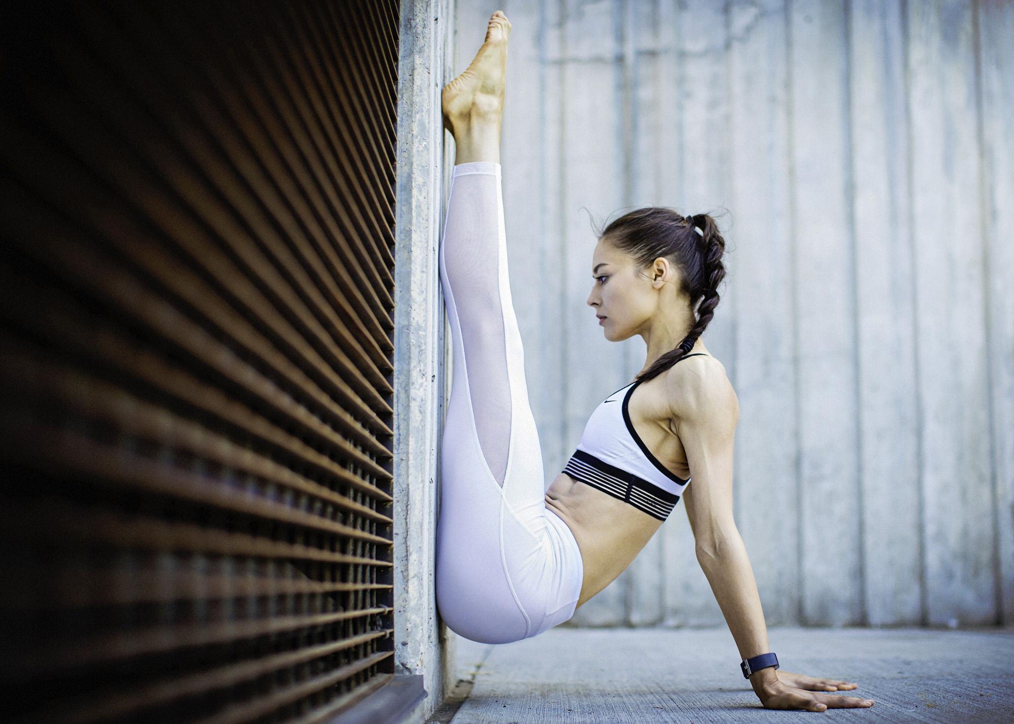 This was an athletic portfolio photo shoot featuring Katya Gudaeva