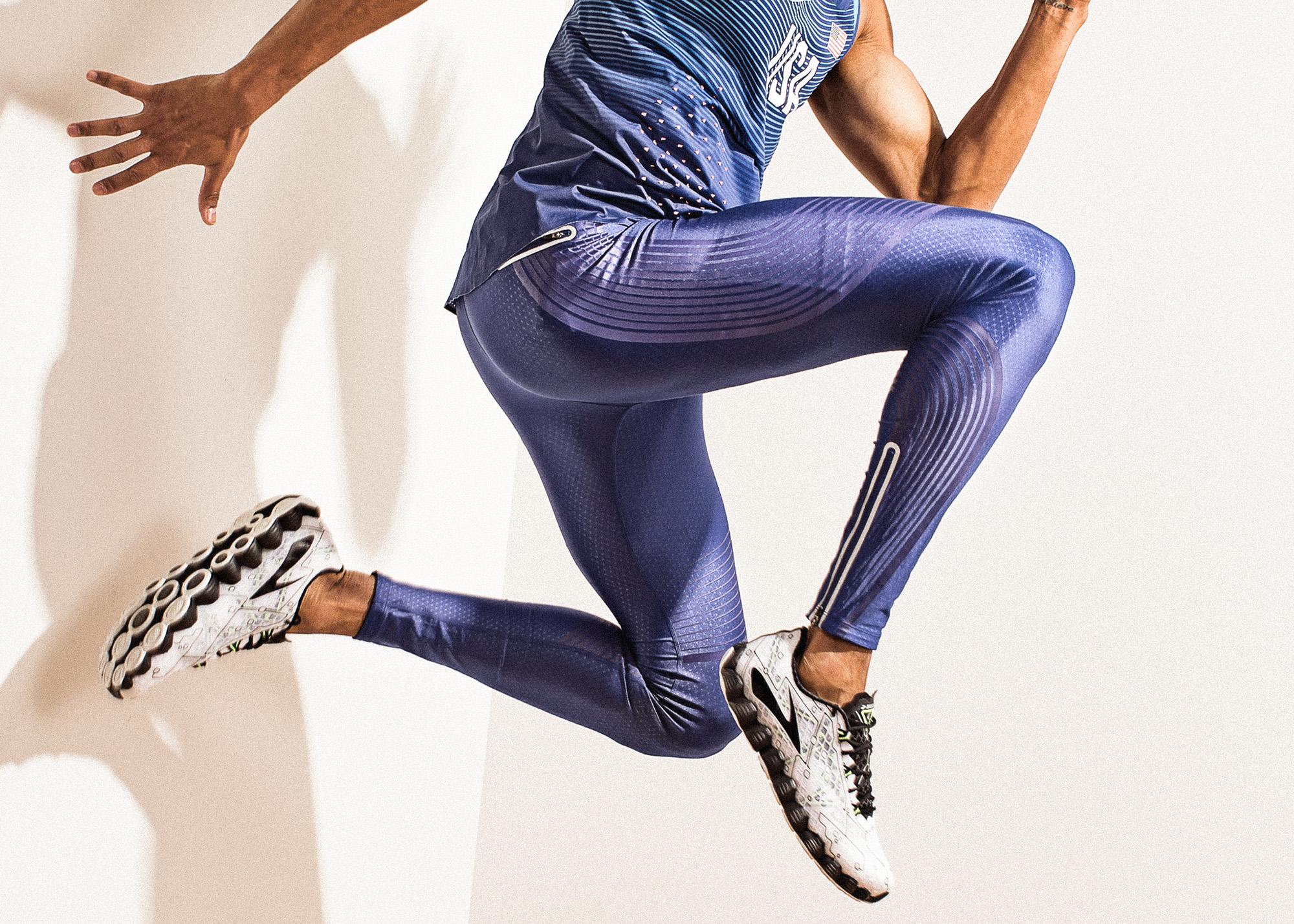 Studio photo shoot with Jeremy Taiwo, 2016 Olympic Decathlete.
