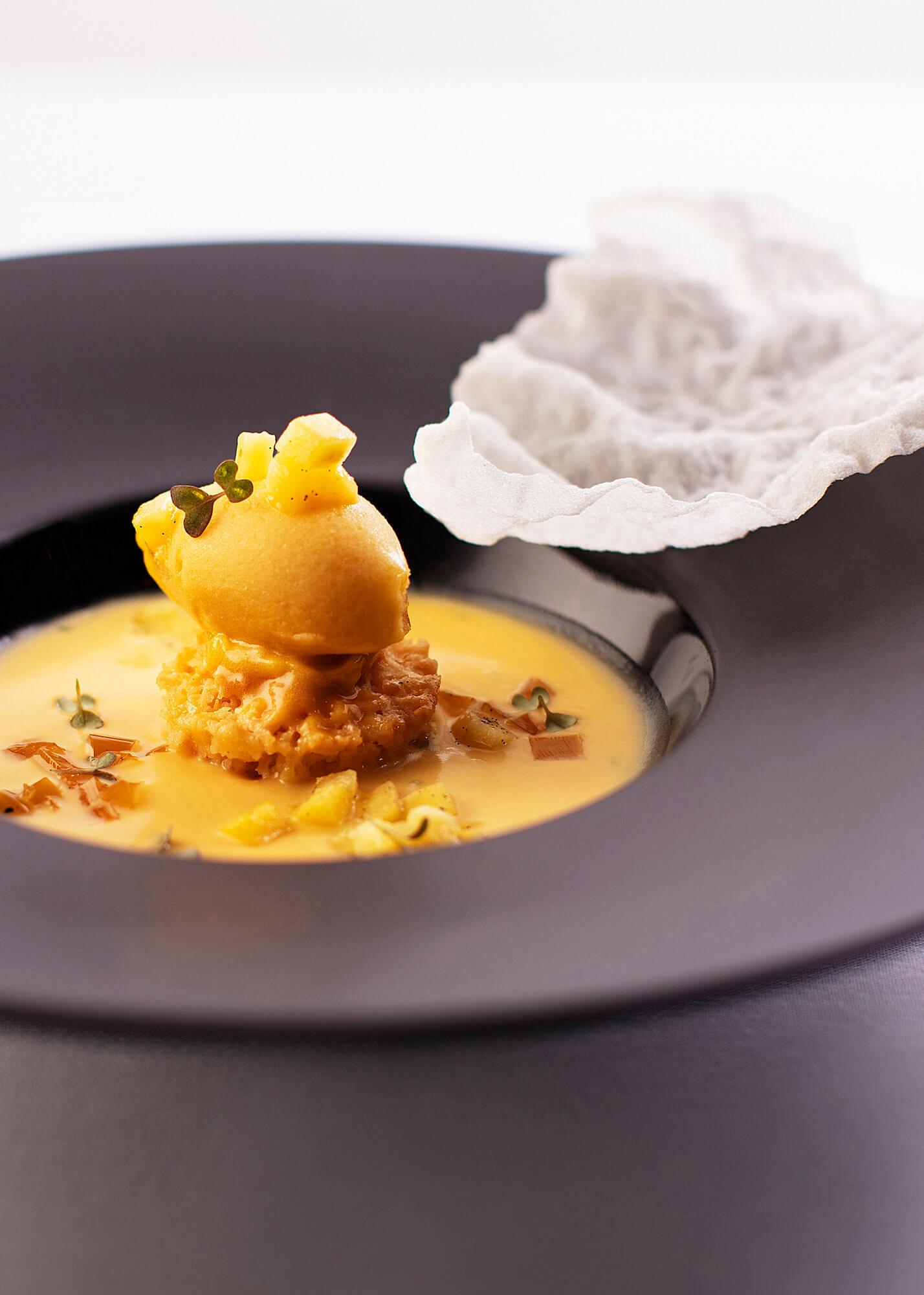 Fine dining soup