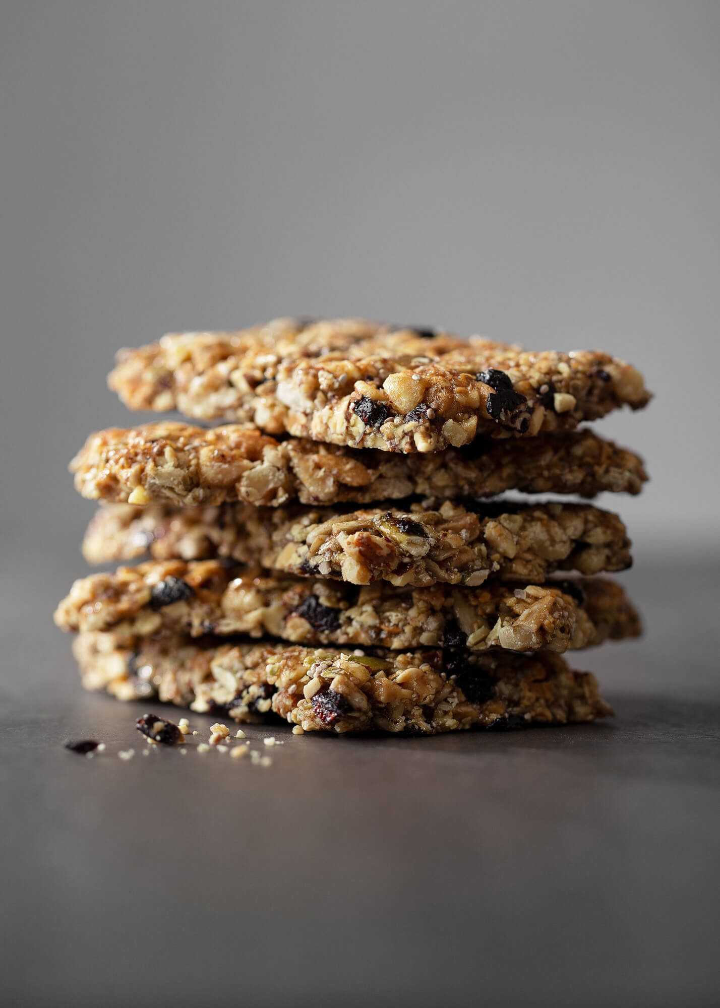 Stack of granola bars