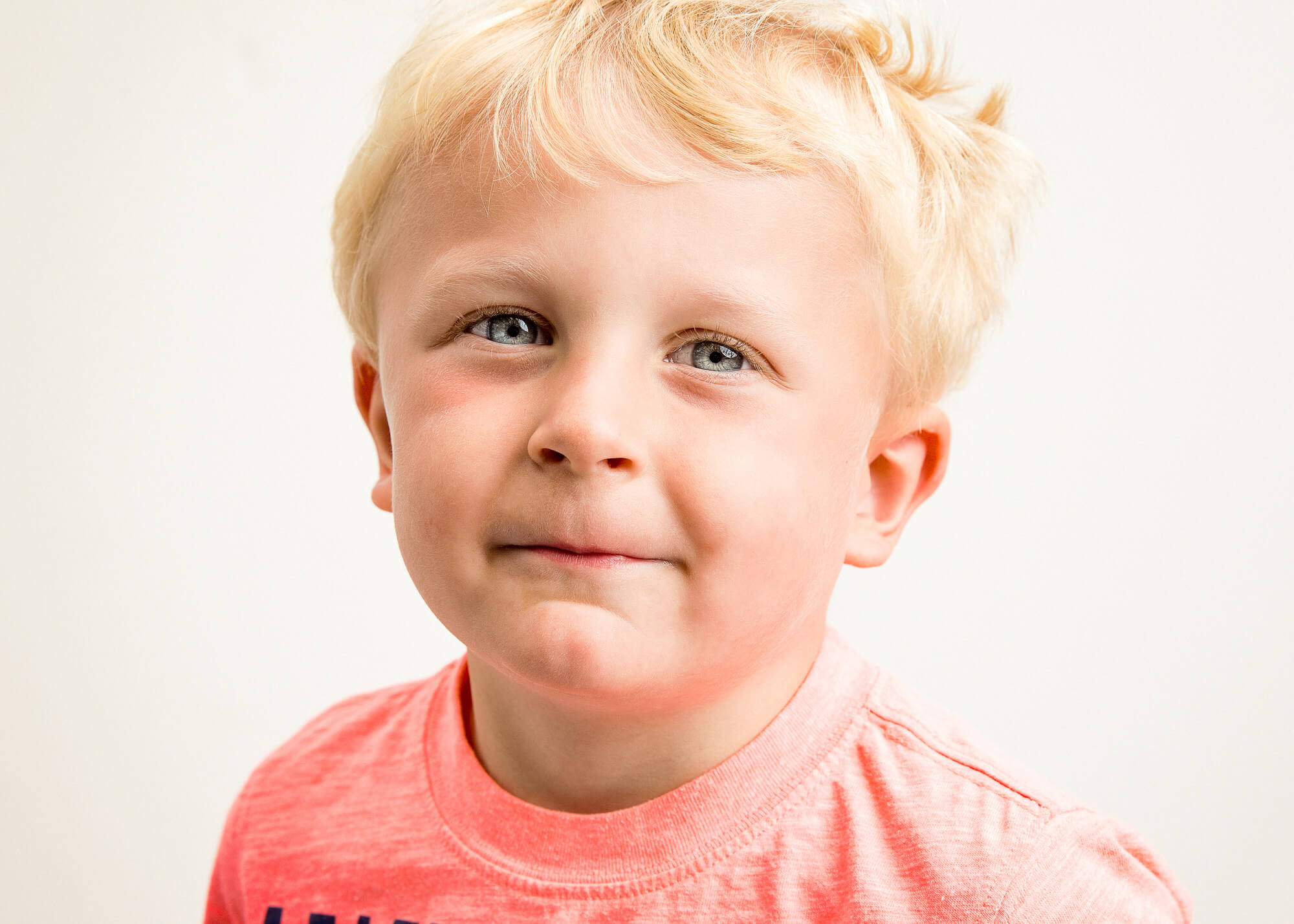 Portrait of young blonde boy