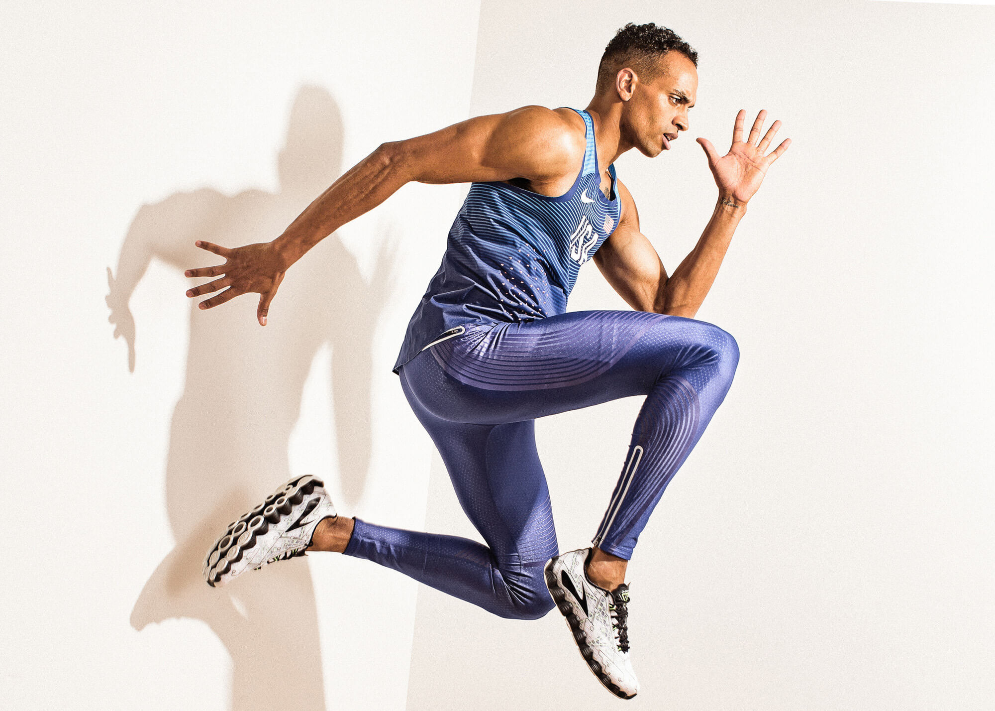 Gym trainer posing in dance move